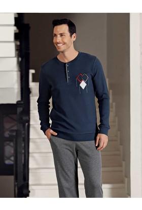 Şahinler Erkek Pijama Takımı Lacivert Mep23806-2