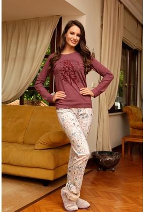 Hays Natur Penye Kadın 2'li Uzun Pijama Takımı