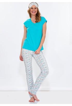 Hays Penye Kadın Kısa Kollu Alt Uzun Pijama Takımı