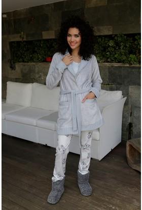 Hays Buongio Kadın Wellsoft Sabahlıklı Penye Pijama Takımı