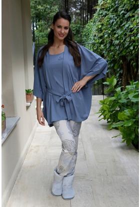 Hays Simply Penye Kadın 3'lü Uzun Pijama Takımı