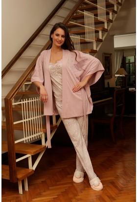 Hays Penye Kadın 3'lü Uzun Pijama Takımı
