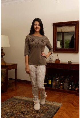 Hays Liss Penye Kadın 2'li Uzun Pijama Takımı