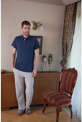 Hays Men Penye Erkek Üst Kısa Kol Alt Uzun Pijama Takımı