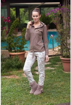 Hays Lovely Teddy Penye Kadın 2'li Uzun Pijama Takımı
