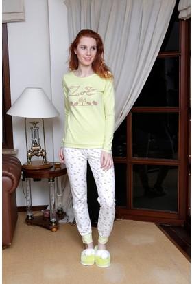 Hays Zuzu Penye Kadın 2'li Uzun Pijama Takımı