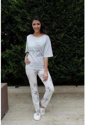 Hays Buongio Penye Kadın 2'li Uzun Pijama Takımı