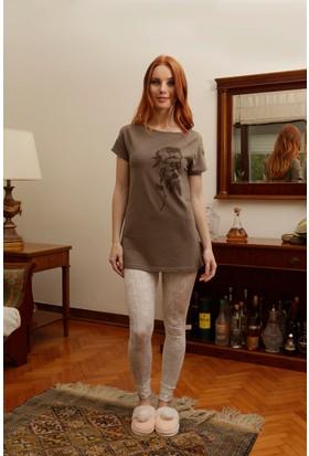 Hays Liss Penye Kadın Kısa Kol Üst Taytlı Pijama Takımı