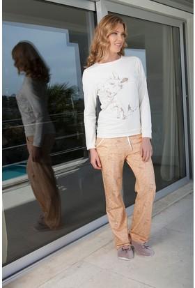 Hays Trina Penye Kadın 2'li Uzun Pijama Takımı