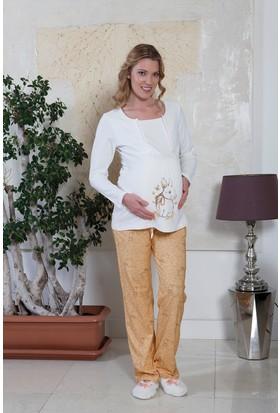 Hays Lohusa Penye Kadın 2'li Uzun Pijama Takımı