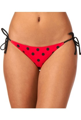 Volcom Dada Dot Rev Tie Side Full Red Bikini Alt