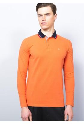 Adze Turuncu Erkek Polo Yaka SweaTshirt