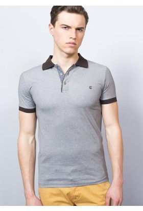 Adze Kahverengi Erkek Polo Yaka Tshirt
