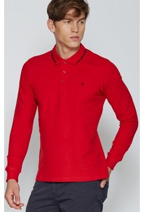 Adze Kırmızı Erkek Polo Yaka SweaTshirt