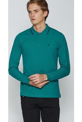 Adze Turkuaz Erkek Polo Yaka SweaTshirt