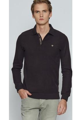 Adze Kahverengi Erkek Polo Yaka SweaTshirt