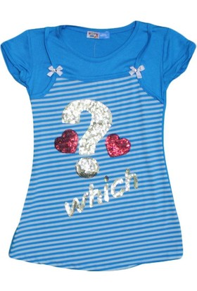 Happy 3880 Kız Tunik Mavi