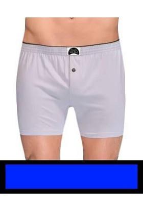 Gümüş 4020 Düz Penye Boxer Mavi