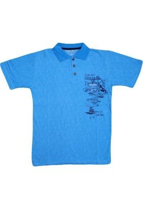 Haknur 5886 Tshirt Mavi