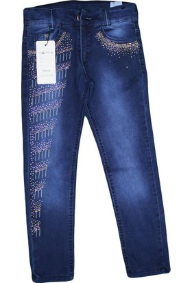 Boomkids B-2003 Kız Taşlı Likralı Kot Pantolon