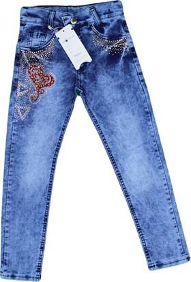 Boomkids B-4000-2 Kız Taşlı Likralı Kot Pantolon