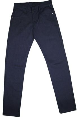 Gıcık F-1489 Erkek Noktalı Keten Pantolon Lacivert