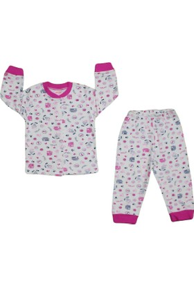 Minichic chic Mnc-06 Pijama Çıt Koyu Pembe