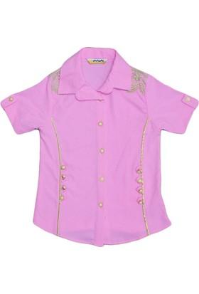 Polat P-4366 Kız Gömlek Pembe