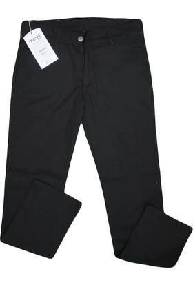 Tati T-7874 Baskılı Saten Pantolon Siyah