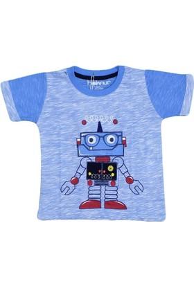 Haknur 6006 Tshirt Mavi