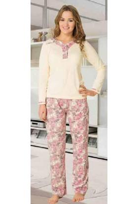 Fapi 2352 Bayan Bat Pijama Takımı Sarı