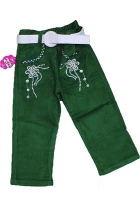 Bücür M-024 Kız Kadife Pantolon Yeşil