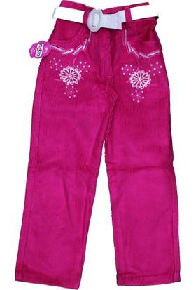 Bücür M-025 Kız Kadife Pantolon Pembe