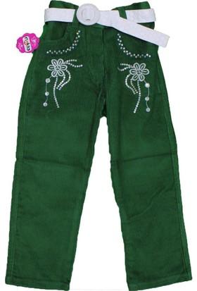 Bücür M-025 Kız Kadife Pantolon Yeşil