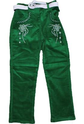 Bücür M-026 Kız Kadife Pantolon Yeşil
