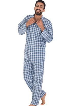 TheDON Ekose Desenli Poplin Pijama Takımı