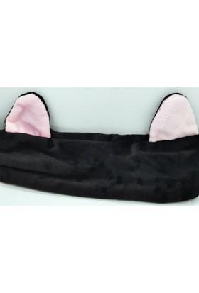 Fonnava Siyah Renkli Tavşan Kulaklı Saç Bandı Tb0398