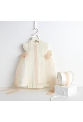 Bebecocon Kız Çocuk Rococo Elbise Ekru