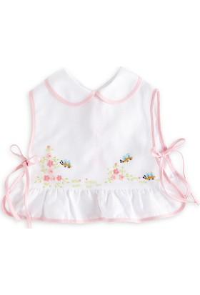 Bebecocon Kız Çocuk Bebe Milano Önlük Beyaz