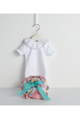Bebecocon Kız Çocuk Diamond Çiçek Set Pembe