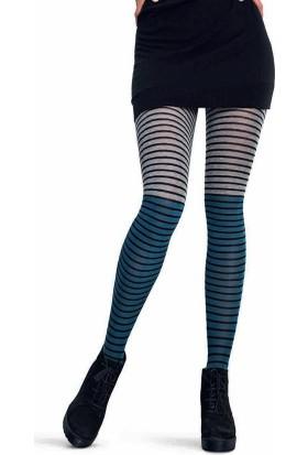 Penti Kadın Stripe Külotlu Çorap