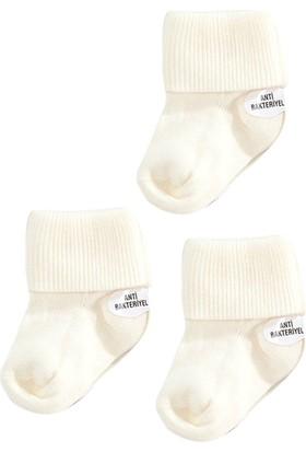 Missemo Antibakteriyel 3'lü Kıvrık Bebek Çorabı