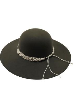 Laslusa İçten Ayarlanabilir Geniş Kenar Keçe Şapka