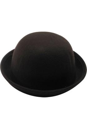 Laslusa Düz Melon Keçe Şapka