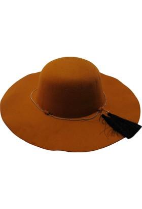 Laslusa İçten Ayarlanabilir Keçe Geniş Kenar Şapka