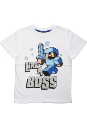 DobaKids Minecraft Like a Boss Erkek Çocuk Tişört