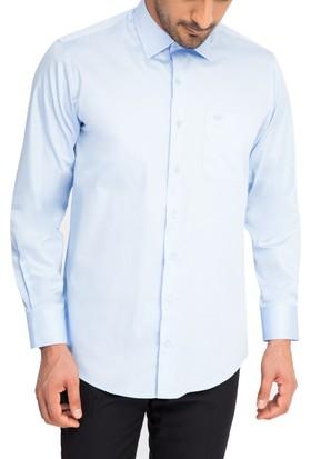 Kiğılı Uzun Kol Düz Saten Gömlek