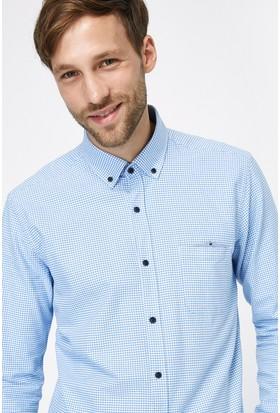 Kiğılı Uzun Kol Slim Fit Kareli Gömlek