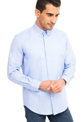 Kiğılı Uzun Kol Oxford Gömlek