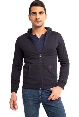 Kiğılı Kapüşonlu 3 İp Slim Fit Sweatshirt